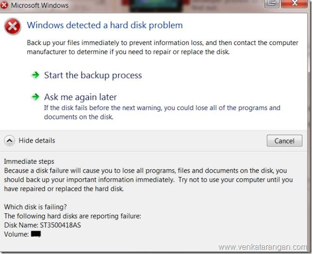 Windows detected a hard disk problem_thumb