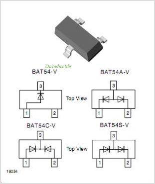 VISHAY-BAT54-pinout