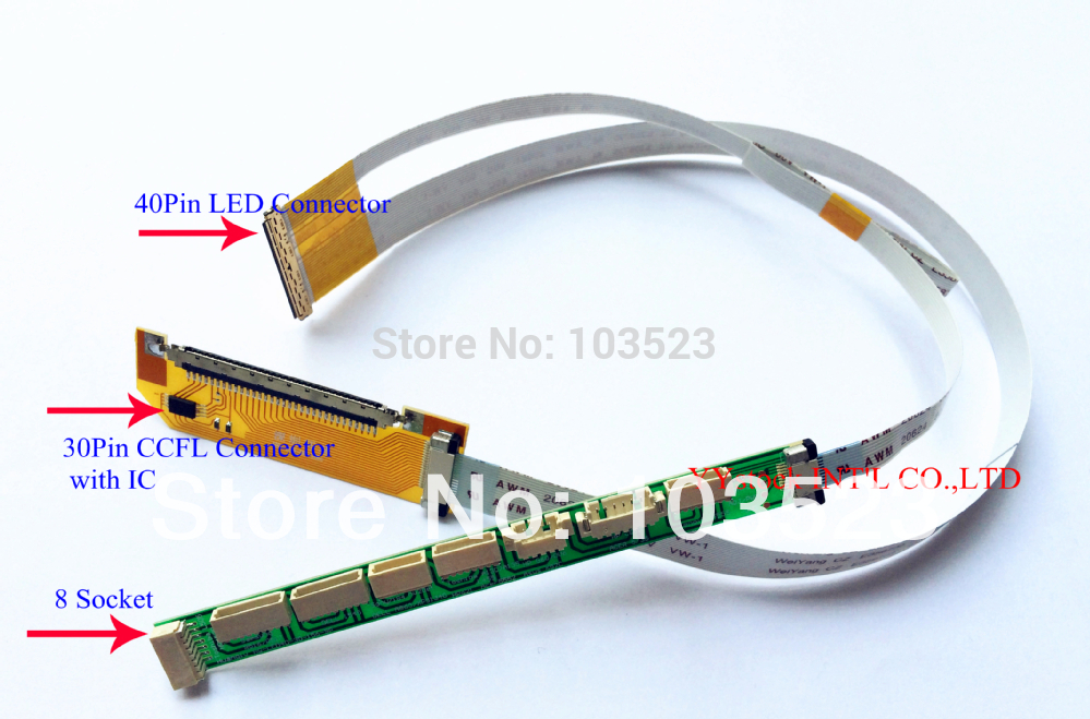 15-6-LED-to-LCD-Screen-font-b-Converter-b-font-Cable-40pin-to-30pin-LED